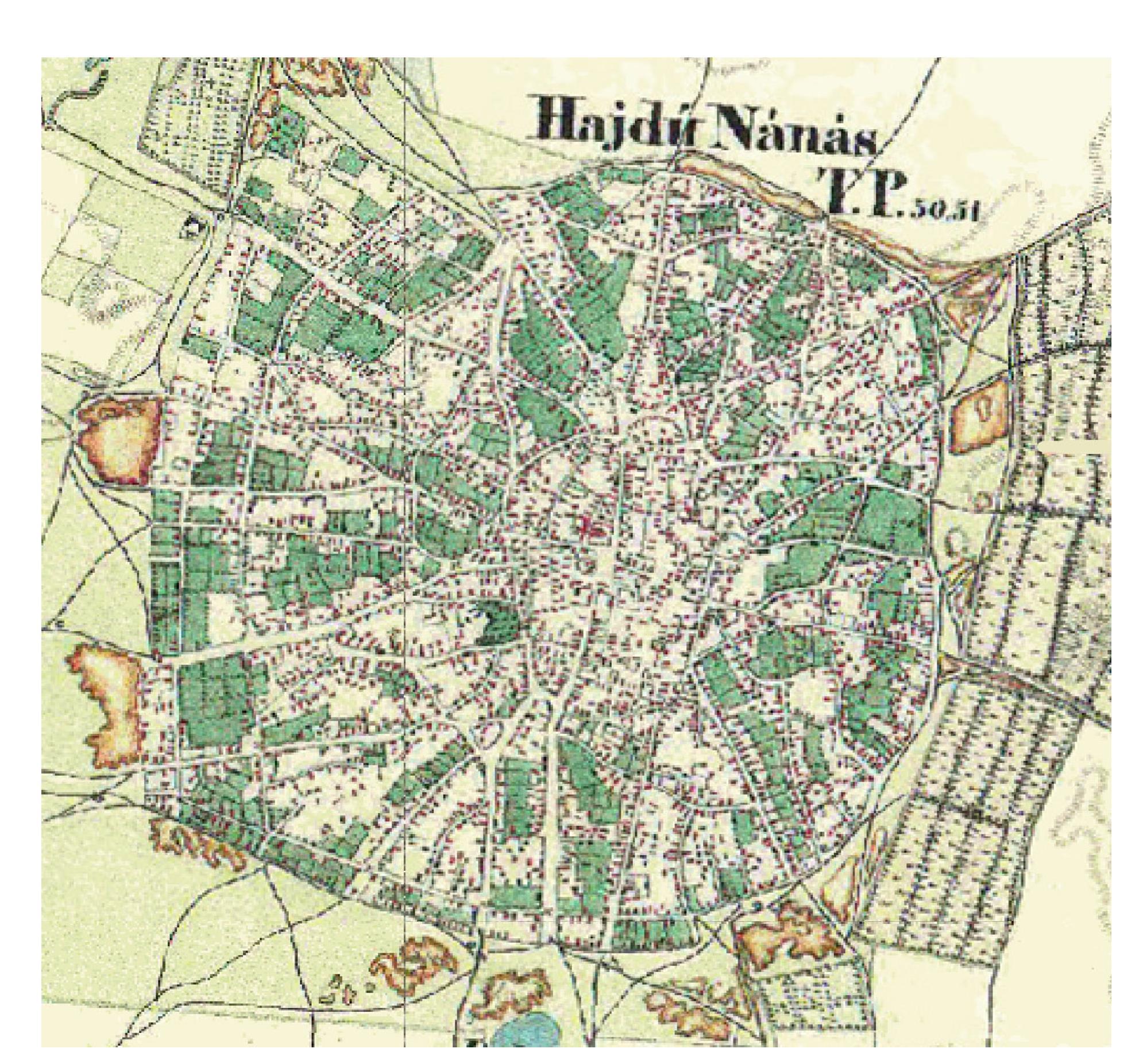 hajdúnánás térkép Hajdúnánás településszerkezete hajdúnánás térkép